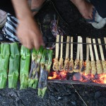 Bali, gatukök, grillspett © Elisabeth Sjöberg Strand