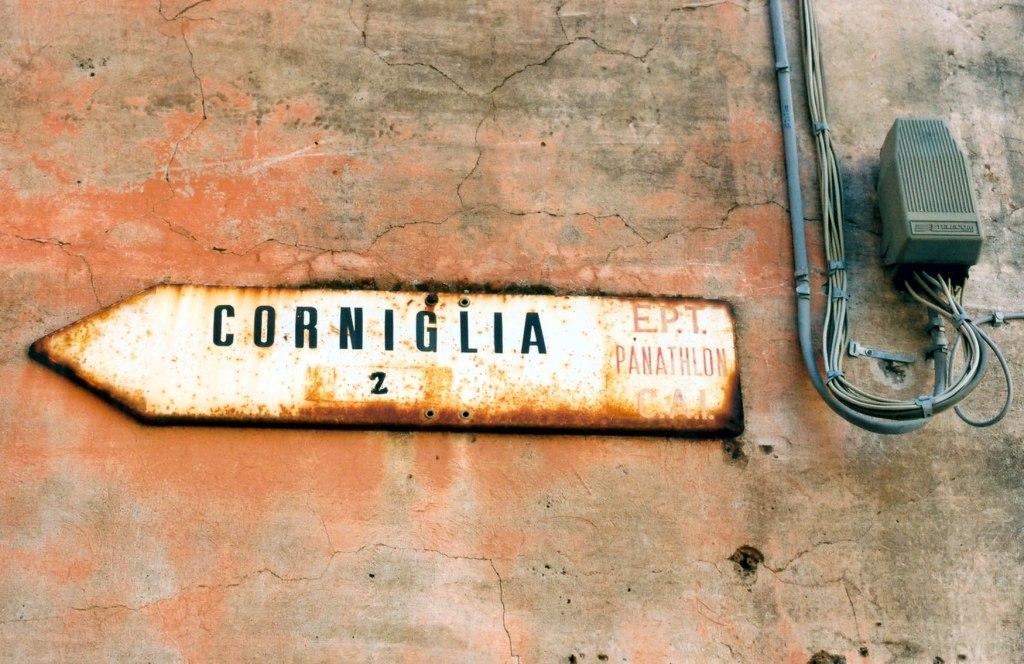 Corniglia, skylt Cinque Terre.  © Elisabeth Sjöberg Strand.