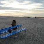 En öde strand i oktober. © Elisabeth Sjöberg Strand