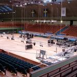Kungliga Tennishallen - Centercourt under uppbyggnad. © Elisabeth Sjöberg Strand